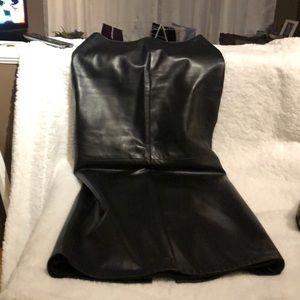 Daniel Black leather skirt